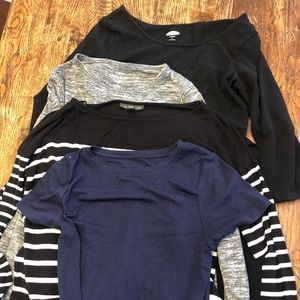 3 maternity fall winter shirts and a dress sm/med